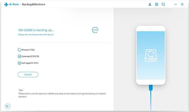 Android Datos Copia de Seguridad y Restauración Paso 3