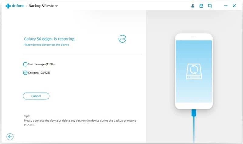 Android Datos Copia de Seguridad y Restauración Paso 7