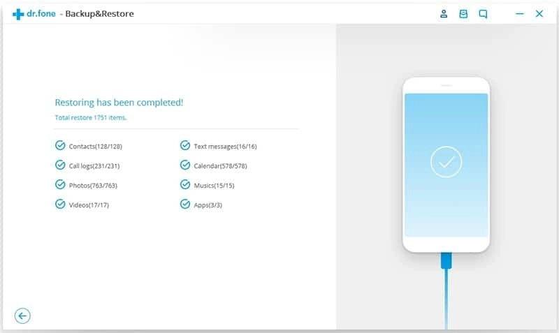 Android Datos Copia de Seguridad y Restauración Paso 8