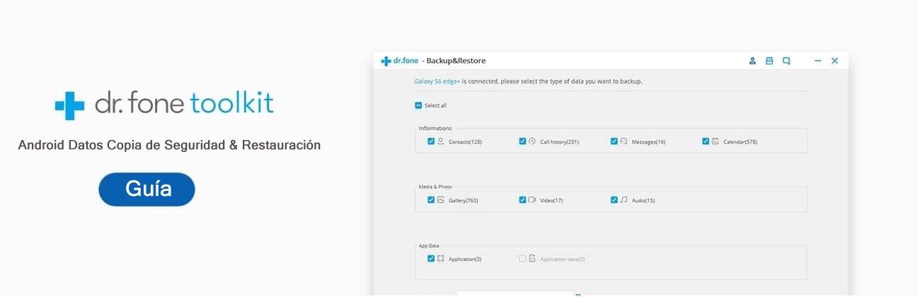 Guía del usuario Copia de seguridad y restauración de datos de Android