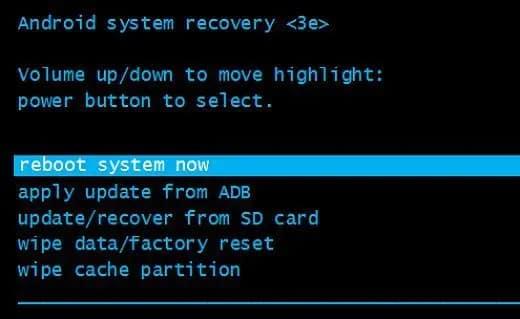 Modo de recuperación de Android